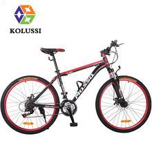 High Quality KOLUSSI 24 Bicicleta Mountain Bike Aluminum Alloy 24/26 Inch One-Shaped Handlebar Disc Speed Bicycle MTB Bici(China (Mainland))