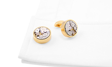1 Pair Classic Steampunk Watch Movement Cufflinks