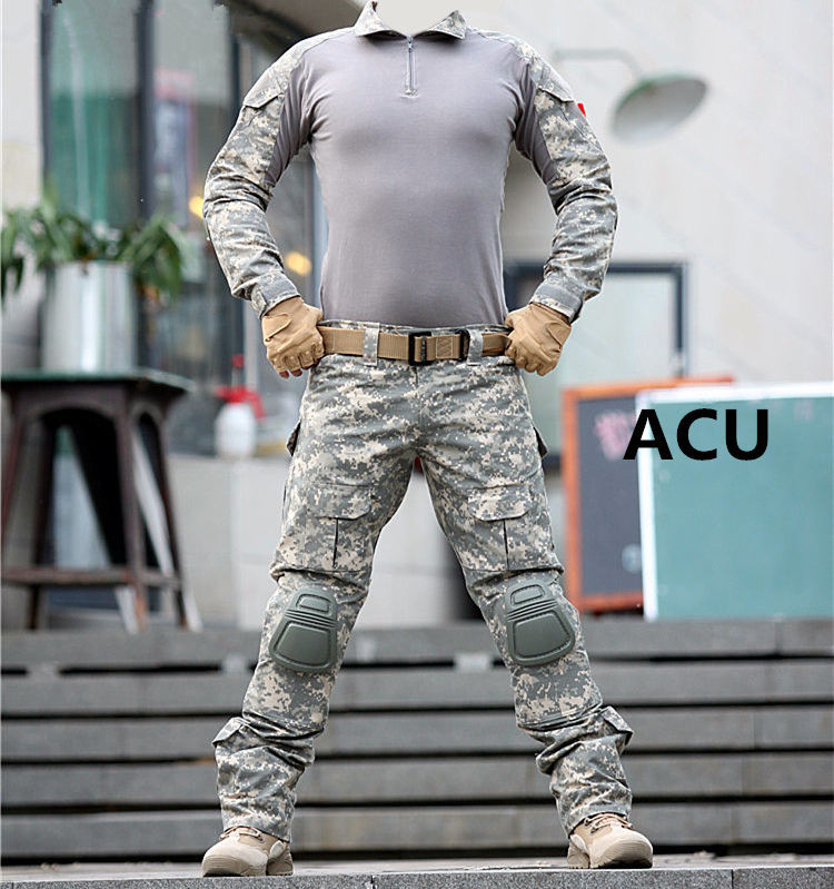 Tactical--uniform-clothing-army-of-the--combat-uniform-tactical-pants-with-knee-pads-camouflage