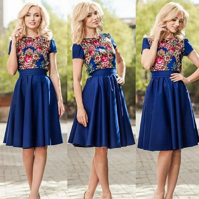 Amazing New Style Women Dress Lace Patchwork Long Sleeve Dress Party Dress