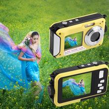 Digital Camera Waterproof 24MP MAX 1080P Double Screen16x Zoom Camcorder 2016 newest(China (Mainland))