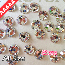 AAAAA Best Quality Clear Hot Fix Rhinestone More Shiny Super Bright Hotfix Iron On Stones For Motif Designs Y2791(China (Mainland))
