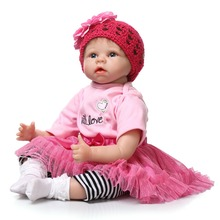 22 inch Reborn Baby Doll Soft Vinyl Like Silicone Girls Christmas Gift Baby Toys Birthday Gifts Juguetes LifeLike Play Doll