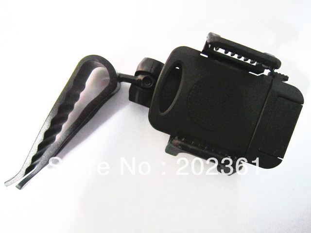 100pcs/lots Car Sun Visor Mount Holder for Cellphone - Black (Width 6.8~11.5cm)