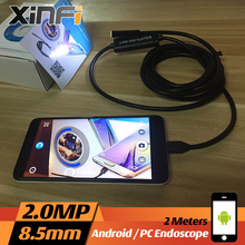 Buy Xinfi 8.5mm 2.0MP USB Endoscope 2M cable Android mini sewer camera Borescope OTG USB pipe camera Snake Camera car inspection for $18.93 in AliExpress store