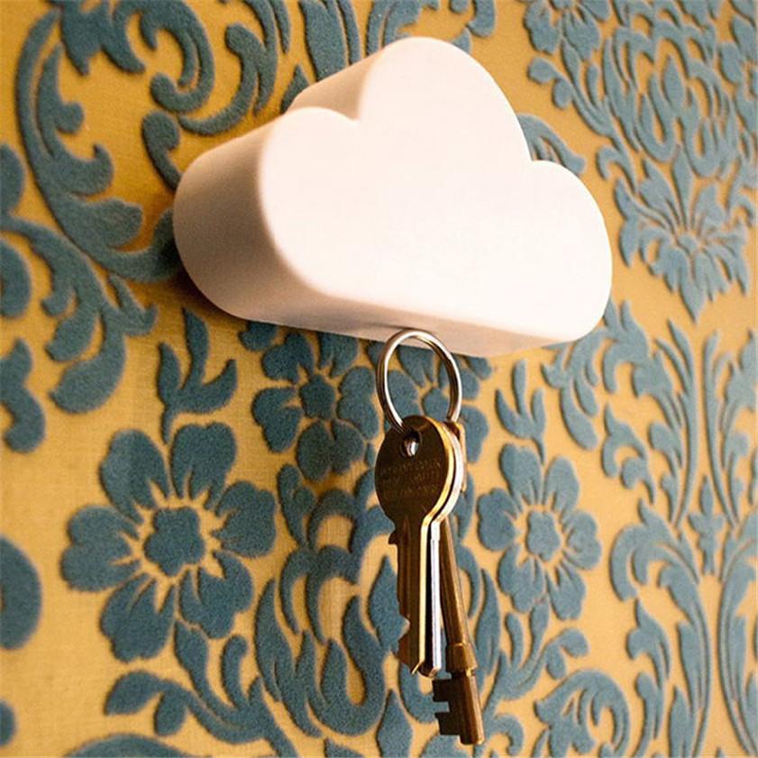 High Quality home key holder Creative Home Shelveskey Cloud Shape Magnetic Magnets Key Holder key rack wall shelf(China (Mainland))