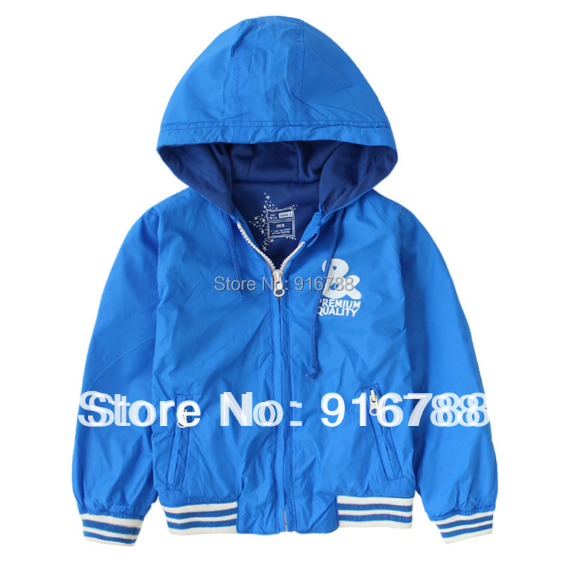 Boys 2014 spring autumn outwear jacket Children hooded sports coat 2-10T - Number2 store