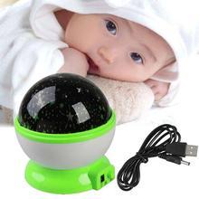 Rotate Night Projector Star Sky Kid Luminous Light Lamp Decor kids night lights bedroom night light projector A(China (Mainland))