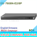 2015 NVR 8CH DS 7608N E2 8P Plug Play 8CH PoE Up to 6MP Onvif Project