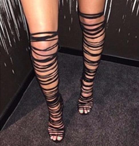 high sandal boots