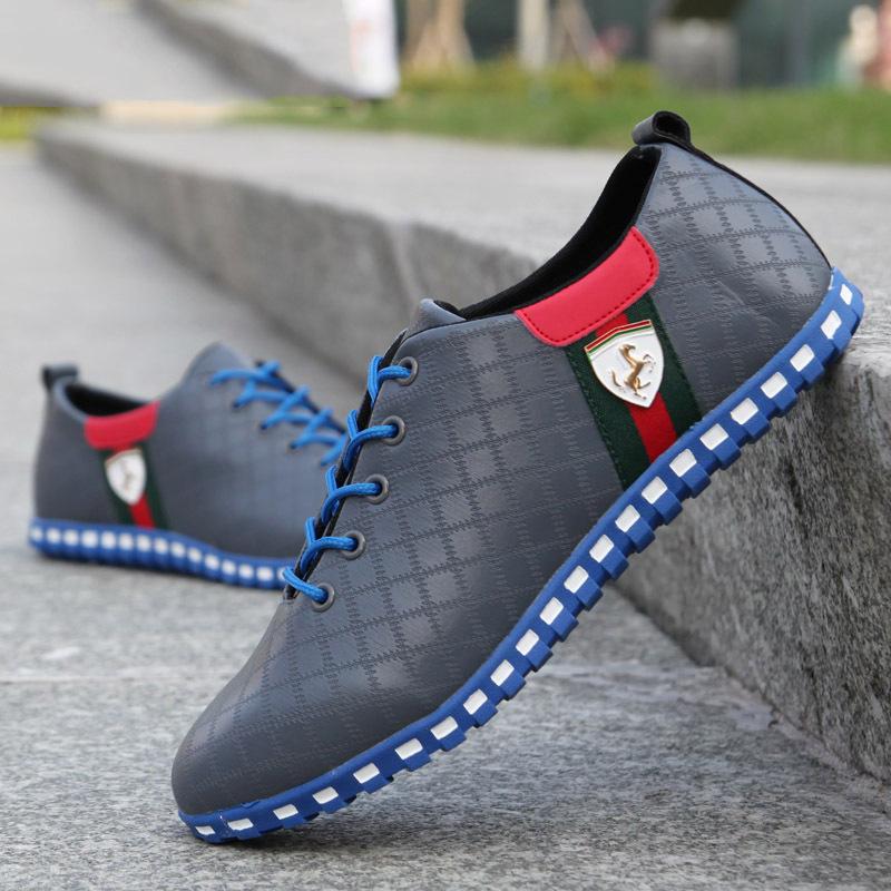Fashion Brand Hot Autumn Winter Men PU Paint Skin Running Sports Shoes Casual Men s Flats