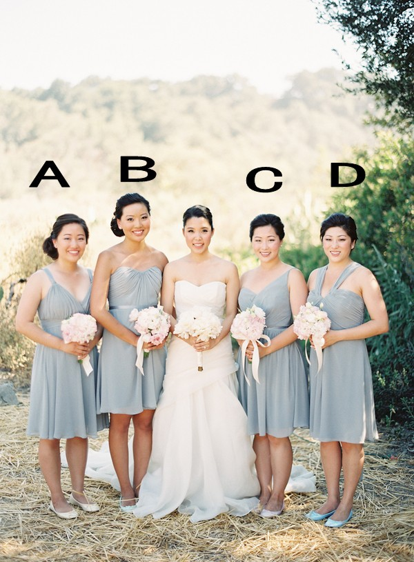 Cheap chiffon bridesmaid dress Sexy deep V neck spaghetti straps gown top quality handmade simple A