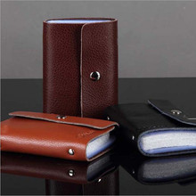 Best Gift New Men Women Leather Credit Card Holder book ID Case Card Holder Wallet Business Card Free Shipping(China (Mainland))