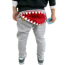 Hot selling Autumn 1 pcs Retail shark girls boys baby trousers infant pants Wear Harem Children Pants fashion Sweatpants(China (Mainland))