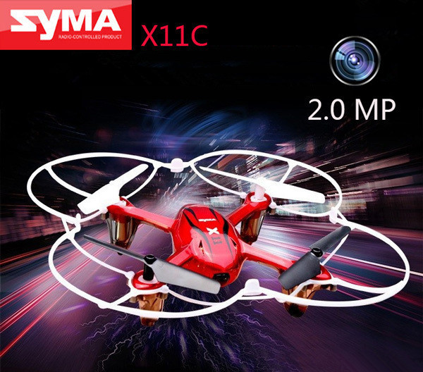 Quadcopter SYMA X11C 2.4G 6 Axis GYRO HD Camera RC RTF Helicopter 2.0MP toys Fast charging - Retail & Store store