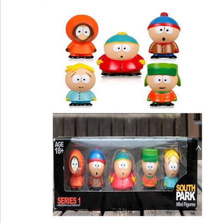 1 Set Retail 5 pcs/set Anime Cartoon PVC South Park Figure Mini Display Action Toys Dolls Box Package - Hongkong Jayli Lighting Co.,Ltd store