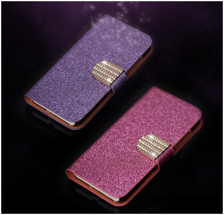 Luxury Glitter Diamond PU Leather Case Sony Xperia L S36H Cover Taoshan C2105 C210X Flip Buckle Stand Card Holder - Shenzhen TGD Technology Co.,Ltd. store