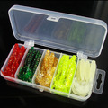 50pcs box 5cm soft bait sea fishing tackle wobbler jigging fishing lure silicone bait soft worm