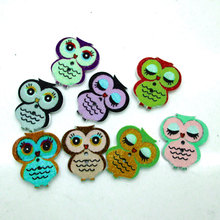 Buy 50pcs/lot Wood Cute Cartoon Owl Animal Buttons Sewing Children Buttons Clothes Ornament DIY Making 21*18mm for $1.34 in AliExpress store
