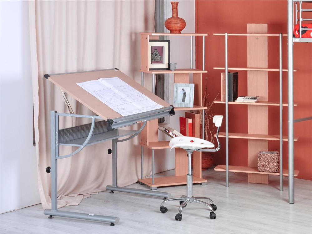 Compra muebles de madera maciza equipo online al por mayor - Mesa de dibujo portatil ...