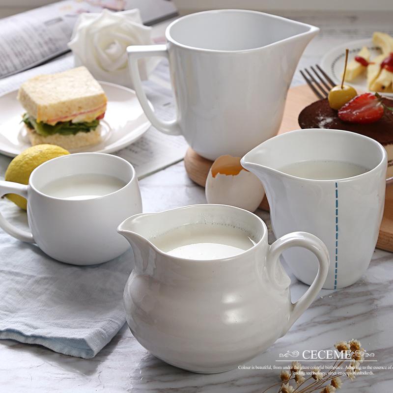 Compra leche jarra de cer mica online al por mayor de for Jarra leche