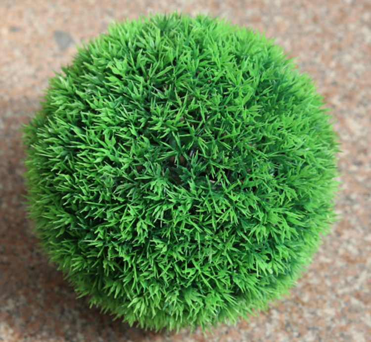 decorative artificial grass ball plastic leaf effect