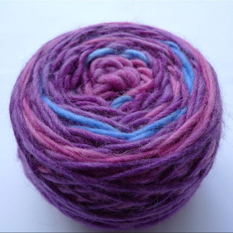 Пряжа для вязания крючком разноцветная 31