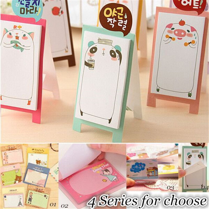 NEW Korea Stationery Pretty Kawaii Cartoon Sticker Post It Bookmarker Memo Pad Flags Sticky Note ON003(China (Mainland))