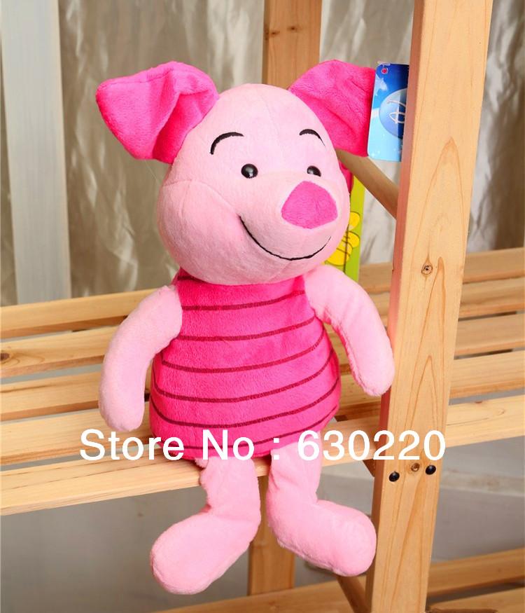 Winnie Friends Pink Piglet Plush toy 40cm 16inch Cute pig stuffed animals dolls Classic cartoon toys Child - Green Dor Toys store