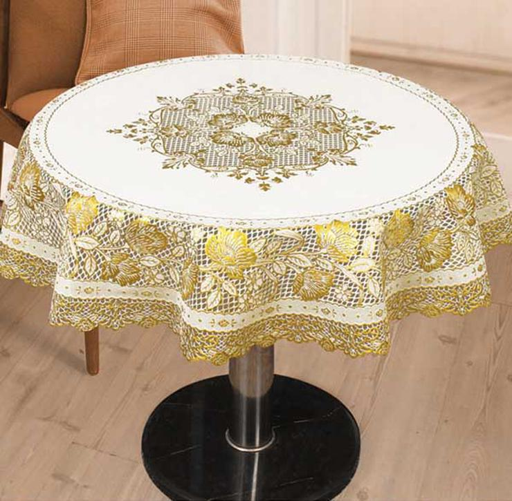 New Arrival Gilt PVC Tablecloth Upscale table mat Elegant Embroidery table cloth Drop Shipping(China (Mainland))