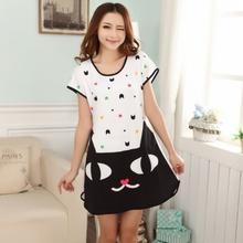 Женщины симпатичные мультфильм короткий рукав пижамы модальные матричный короткий сон(China (Mainland))
