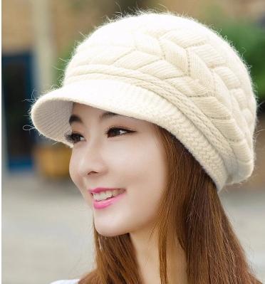 New 2016Autumn Winter Cute Fashion Warm Hats Women Knitted Caps Rabbit Fur Skullies & Beanies - Jessica`s Store(FreeShipping store)