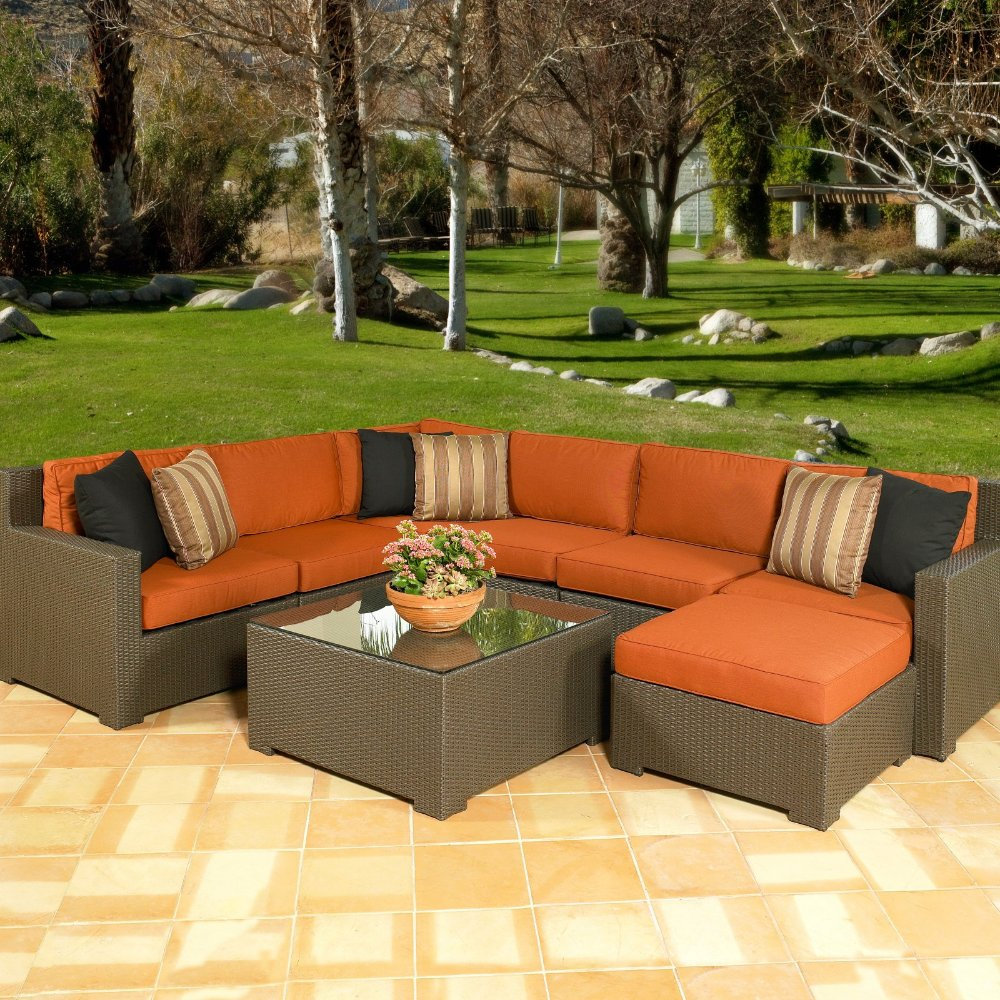 Melrose All Weather Wicker Outdoor Sectional Seating Seats