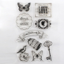 DECORA 1PCS  Flower Butterfly Cute Girl Design Transparent Stamp DIY Scrapbooking/Card Making/Christmas Decoration Supplies(China (Mainland))