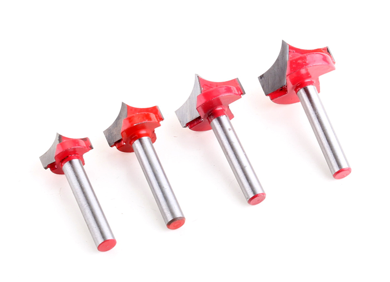 1pc CNC tools solid carbide round nose Bits Shank Round Nose Point Cut Roundover Bit Shaker Cutter Tools For Woodworking