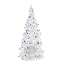 NFLC Color Changing LED Artificial Crystal Christmas Tree Decoration XMAS Night Light