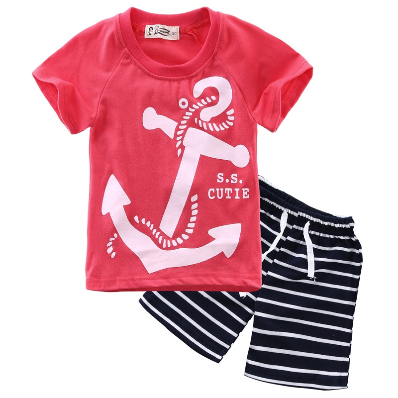 2T-6T New Toddler Boys Clothing Children Summer Boys Clothes Cartoon Kids Boy Clothing Set T-shit+Pants Sport Suit(China (Mainland))