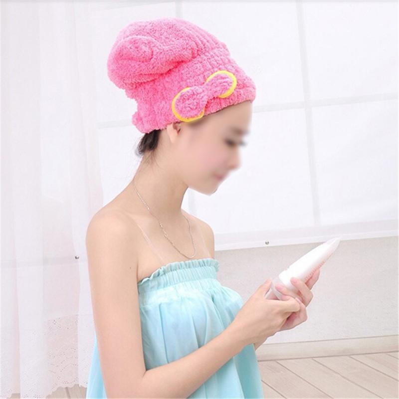 Dry Hair Hat Microfiber Hair Turban Quickly Dry Hair Hat Wrapped Towel Bathing Cap DYY746