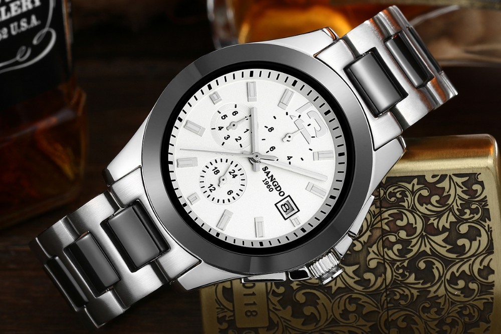 Free shipping 40mm Sangdo Business watch Automatic mechanical movement Waterproof watch High quality Men's watch