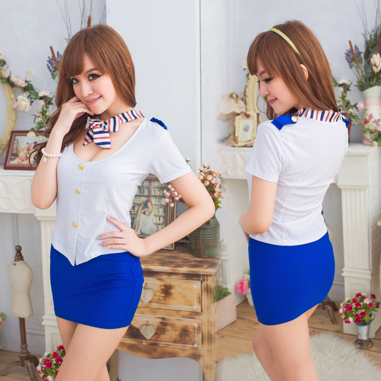 2015 Costume Onesie Manufacturers Selling Temperament Sexy Airline Stewardess Uniform Cosplay Sn Ds Nightclub In Service 1060(China (Mainland))