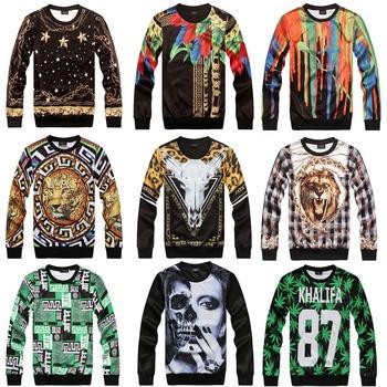[ Magic ] горячая европейской и американской популярной 3D одежды обе стороны печать свободного покроя футболка мужчин толстовки новые 21 модели бесплатная доставка
