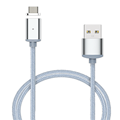 Nylon 3 in 1 Magnetic Micro USB Adapter For Lightning Sync Wire Data Cable Fast Charging