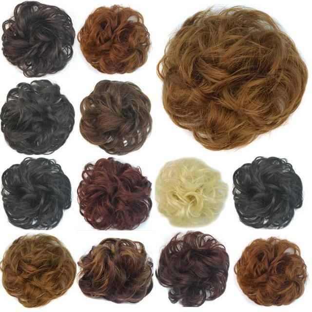 Высокое качество поддельные волос волнистые волосы конский хвост невесты Bun парики ...