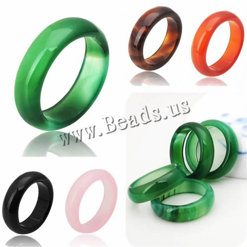 Natural Agate jade Crystal jewelry engagement wedding rings for women and men Love Christmas gifts bijoux Natural Stone Ring(China (Mainland))