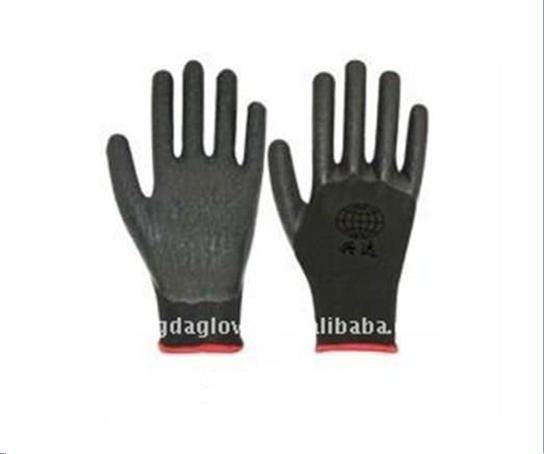 Free Shipping!wholesale12 pairs/dozen13 gauge nylon  latex coated crinkle working gloves/safety protective gloves/