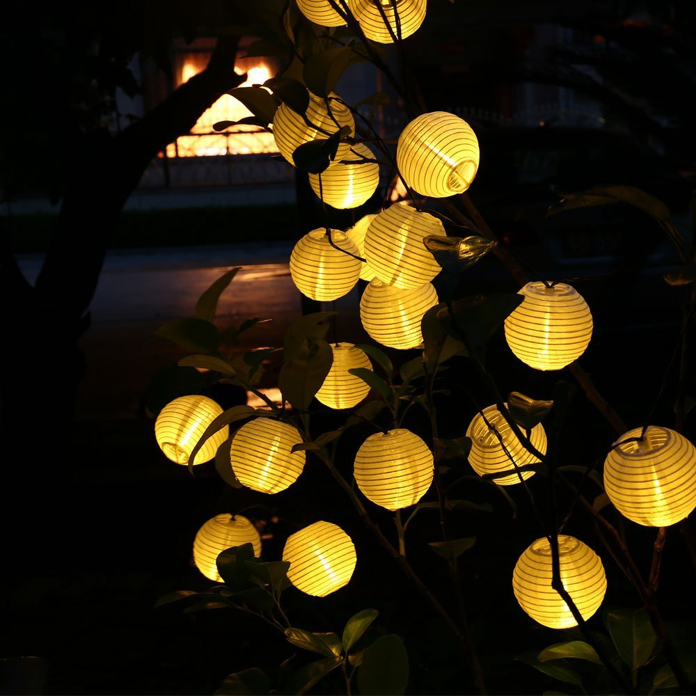 Updated 30LED 20ft Solar Outdoor Lantern Ball String Lights Fairy Globe Christmas Light for Home Garden Holiday Party Decoration(China (Mainland))