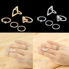 5Pcs/Set Fashion Top Of Finger Over The Midi Tip Finger Above The Knuckle Ring Set