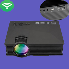 UC46 1200 Lumens WiFi LED Projector Multimedia Home Theater Full HD 1080P 3D Mini Beamer With IR/USB/SD/HDMI/VGA TV Video Player