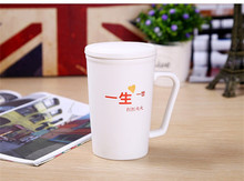 Ceramic Couple Mug White Black Handgrip With Spoon Milk juice water Coffee Cups and Mugs 250ml