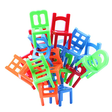 Brand New 18X Plastic Balance Toy Stacking Chairs For Kids Desk Play Game Toys Parent Child Interactive Party Game Toys(China (Mainland))
